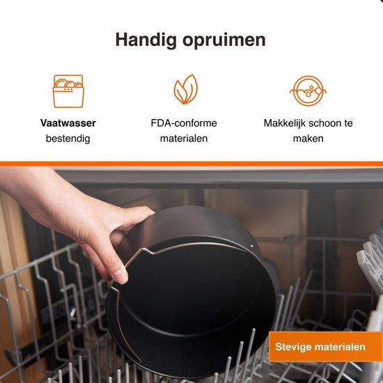 Heteluchtfriteuse accessoires geschikt voor kleine heteluchtfriteuse - Inclusief kookboek -  20cm