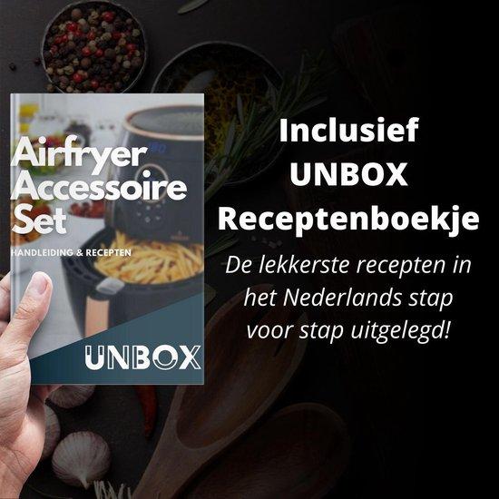 UNBOX - 14-delige Heteluchtfriteuse Accesoires Set - Geschikt voor Airfryer XL en XXL - Inclusief Nederlandse Receptenbundel