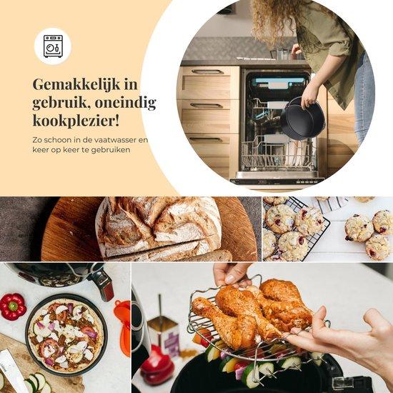 XL Heteluchtfriteuse Accesoires Set - ø20,5cm - Incl. Recepten E-book