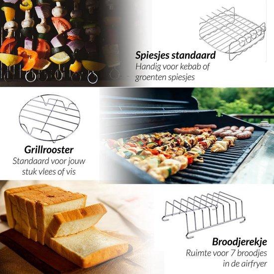 24Goods® Airfryer Accessoires Set-Heteluchtfriteuseaccesoires -Oven Accesoires-12 Delig-XL en XXL -Incl. Kookboek-Hoge Kwaliteit - ⌀ 20 cm-Bakset