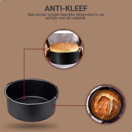 Heteluchtfriteuse accesoires XL en XXL - Inclusief Kookboek Digitaal - Bakvorm