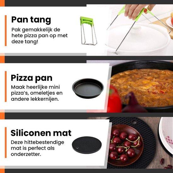 Promida 3-Delige Heteluchtfriteuse XL Accesoires Pizza Pan set ⌀20