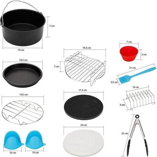 D.E. Products - Heteluchtfriteuse accessoire set - 13 delig