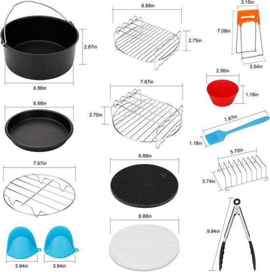 CRYTIVE - Airfryer Accessoires - Accessoires voor Heteluchtfriteuses - Accessoires Set