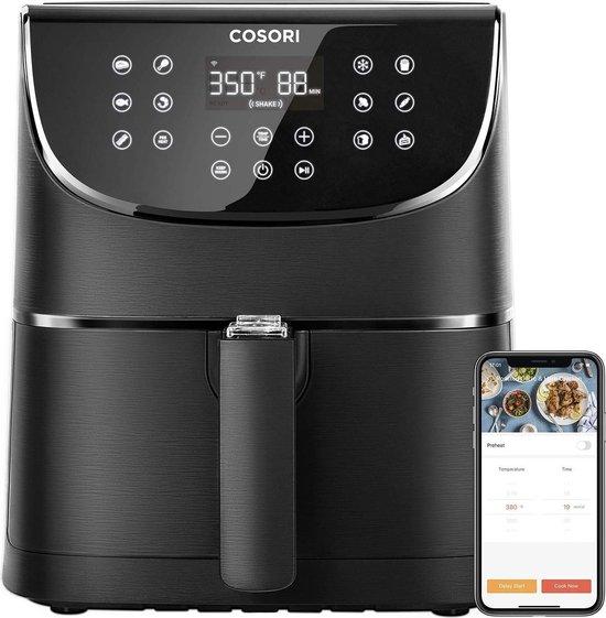 Cosori-CS158 AFRXB-Heteluchtfriteuse-App bediening-5.5Liter-Zwart