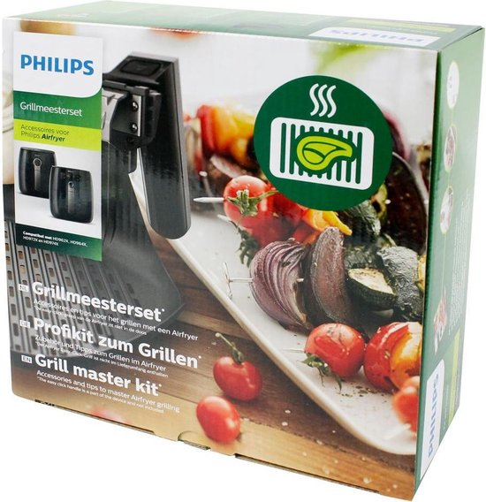 Philips Airfryer Accessoire HD9941/00 - Airfryer accessoire - Grillmeesterset voor Airfryer Compact