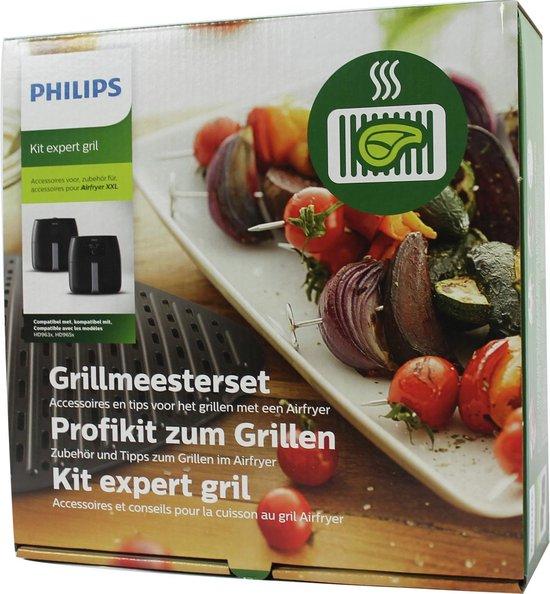 Philips Airfryer grillset HD9951/00 - Airfryer accessoire - Grillset voor de Airfryer XXL