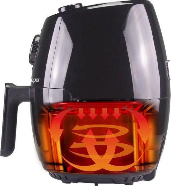 Beper - P101FRI001 - Heteluchtfriteuse - Zwart - 2 liter