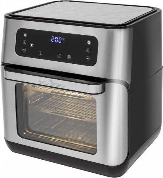 ProfiCook PC-FR 1200 H Enkel 11 l Vrijstaand 1500 W Heteluchtfriteuse Zwart, Roestvrijstaal