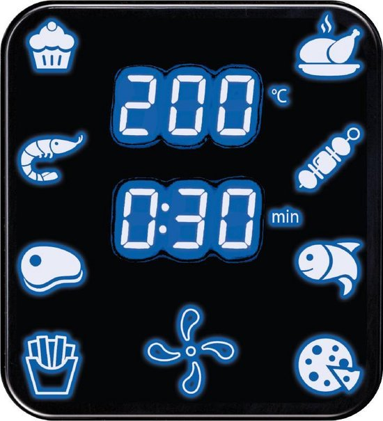 MPM - Hetelucht Friteuse - 4,5 liter - 8 Programma's - Digitaal Touch-paneel