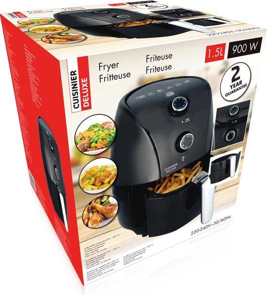 Cuisinier Deluxe Hetelucht friteuse - XL 1,5 liter