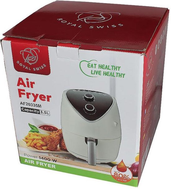 Royal Swiss AF20335M - Touch screen - Hetelucht friteuse - 3.5 L - Wit