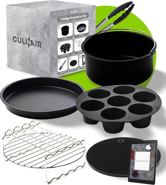 Culi-N-Air XL Heteluchtfriteuse Accessoires Set - Inclusief het Ebook Receptenboek  - 7 Delig
