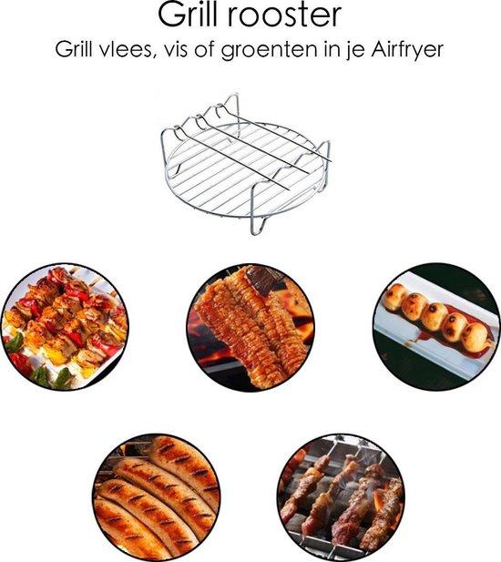 Airfryer Accessoires - Airfryer Accessoiresset - Airfryer accessoire - Partyset voor de Airfryer - ⌀ 18 cm - 5 Stuks