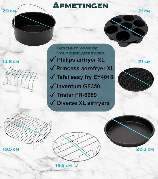 IMLI Heteluchtfriteuse XL accessoireset - 13-delige set - Geschikt voor o.a. Philips en Princess