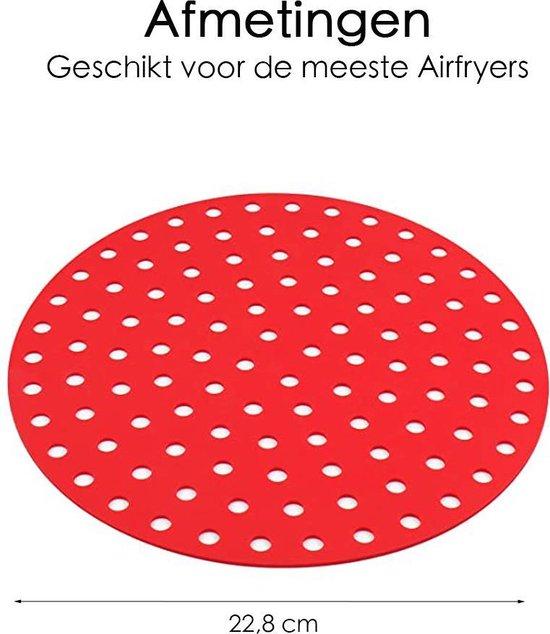 Airfryer Inlegvel - 2 Stuks - Universeel - Vaatwasserbestendig
