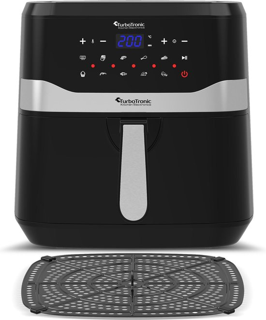TurboTronic AF7D Digitale Airfryer XL - Heteluchtfriteuse - 7.5L - Zwart
