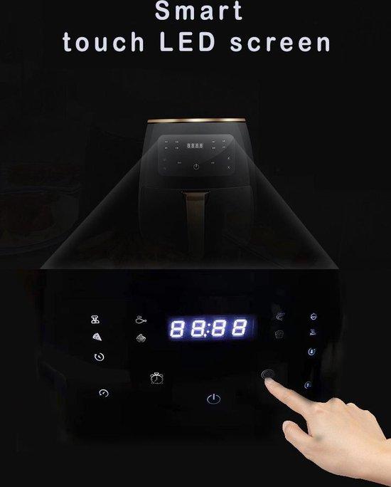 Airfryer Oven- hetelucht Friteuse - YSE45-12A- XXL- Grill- Droger - 4,5 L- 1400W- hoge kwaliteit - met digitale bedieningspaneel- zwart
