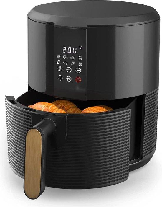 Hetelucht-friteuse | 1300 Watt | LED Touchscreen | 8 Programma's | Zwart | Thermostaat | Timer