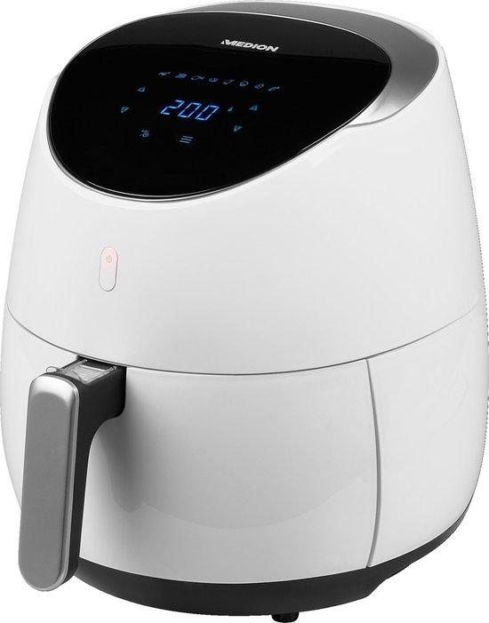 Heteluchtfriteuse MD 19279   2000W   200° C Max   Vetvrij frituren   Digitaal bedieningspaneel   8 Automatische programma's