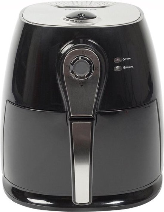 Azura AZ-AF10 Heteluchtfriteuse - 3L 1400W Zwart/Zilver