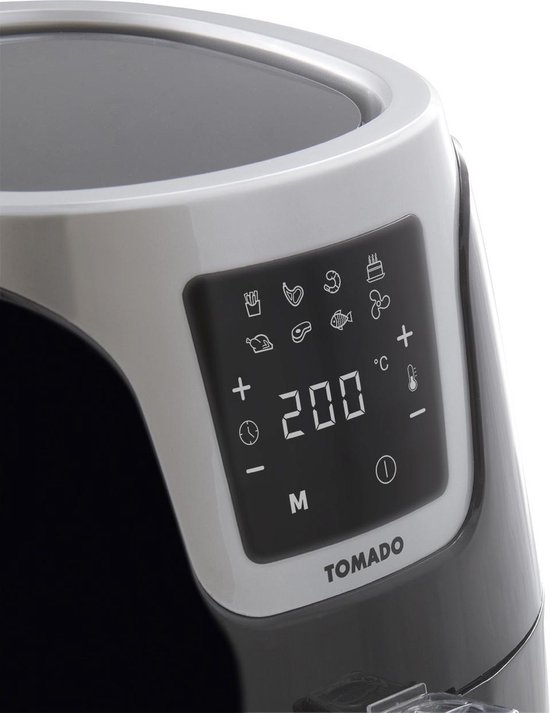Tomado TAF3201B - Hetelucht Friteuse - 3,2 liter - Digitaal display - 1500 Watt - Zwart