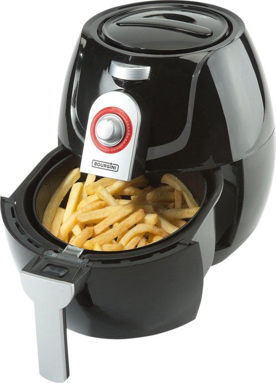 Bourgini 18.2042 Health - Hetelucht friteuse - Zwart - 3.2L